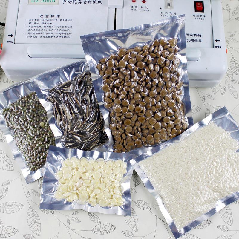 Clear Silver Waterproof Aluminium Foil Packaging Bags Food Storage Transparent Mylar Vacuum Plastic Snack Pastry Coffee Bag