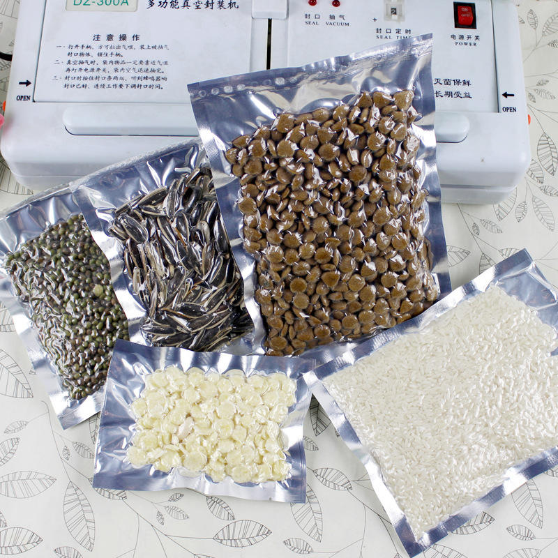 Clear Silver Aluminium Foil Packaging Bags Food Storage Transparent Mylar Vacuum Plastic Snack Pastry Coffee Candy Bag