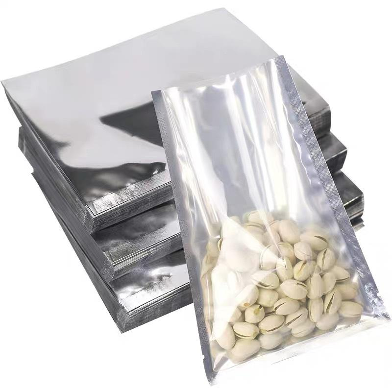 Clear Silver Waterproof Aluminium Foil Packaging Bags Food Storage Transparent Mylar Vacuum Plastic Bag