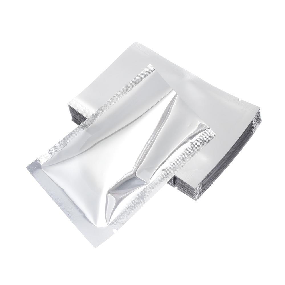 Heat Seal Flat Mylar Foil Open Top Packaging Bags Food Storage Aluminum Foil Bag For Food Spice Grains Snack