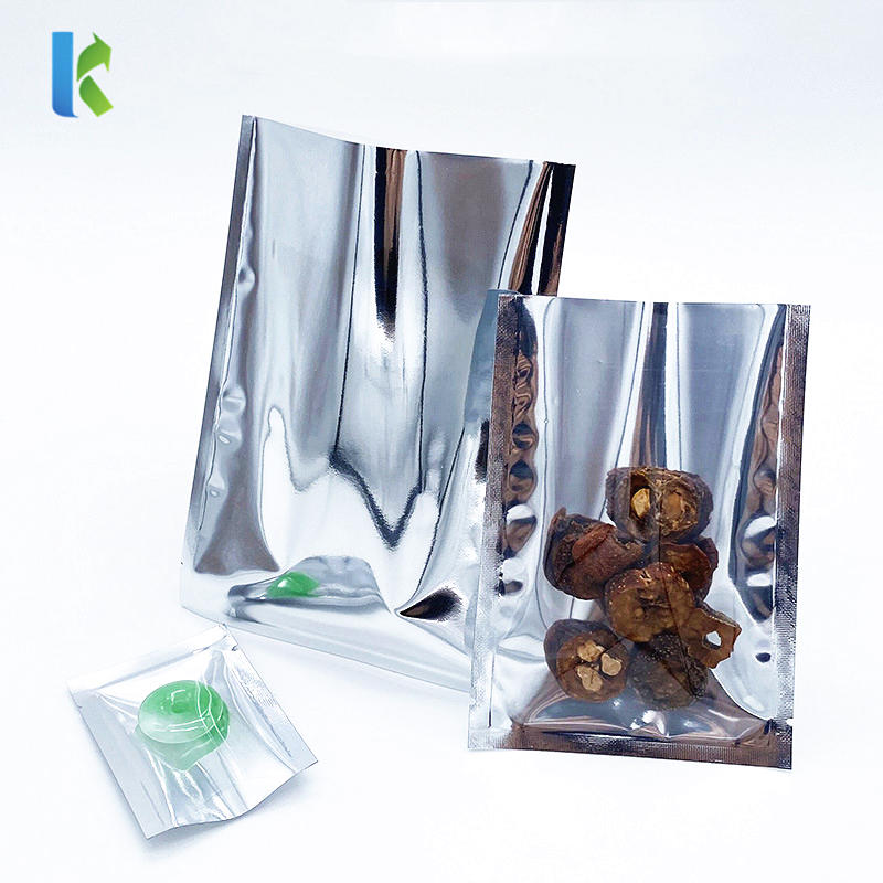 Wholesale Open Top Silver Clear Mylar Vacuum Seal Bags For Food Packaging