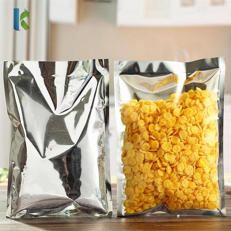 kolysen Open Top Silver Aluminum Foil Clear Plastic Packaging Bags