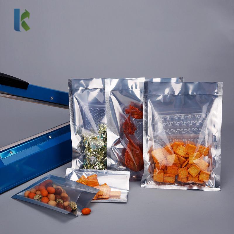 kolysen Open Top Clear Silver Mylar Foil Bag Vaccum Heat Seal Storage Aluminum Pouch