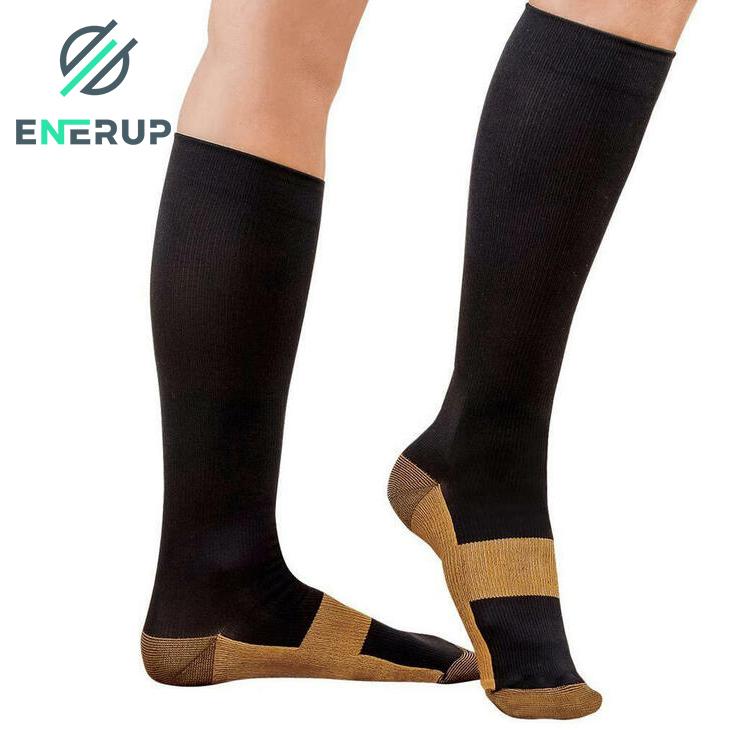 Enerup Modern Football Cotton Fitness Zipper Compression Ankle Socks 40-50 Mmhg Basketball Elite Zip Circulation For Kids