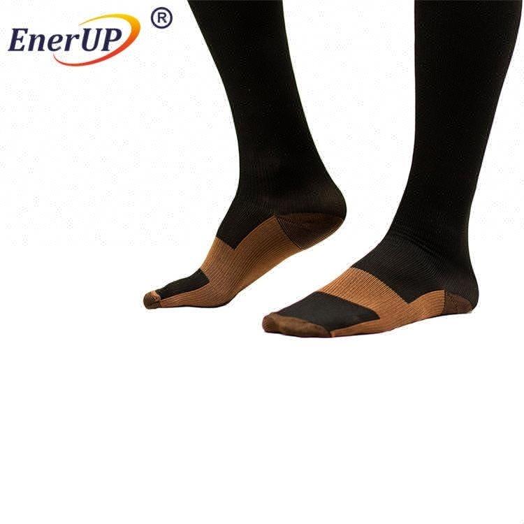 Knee high copper athletic socks