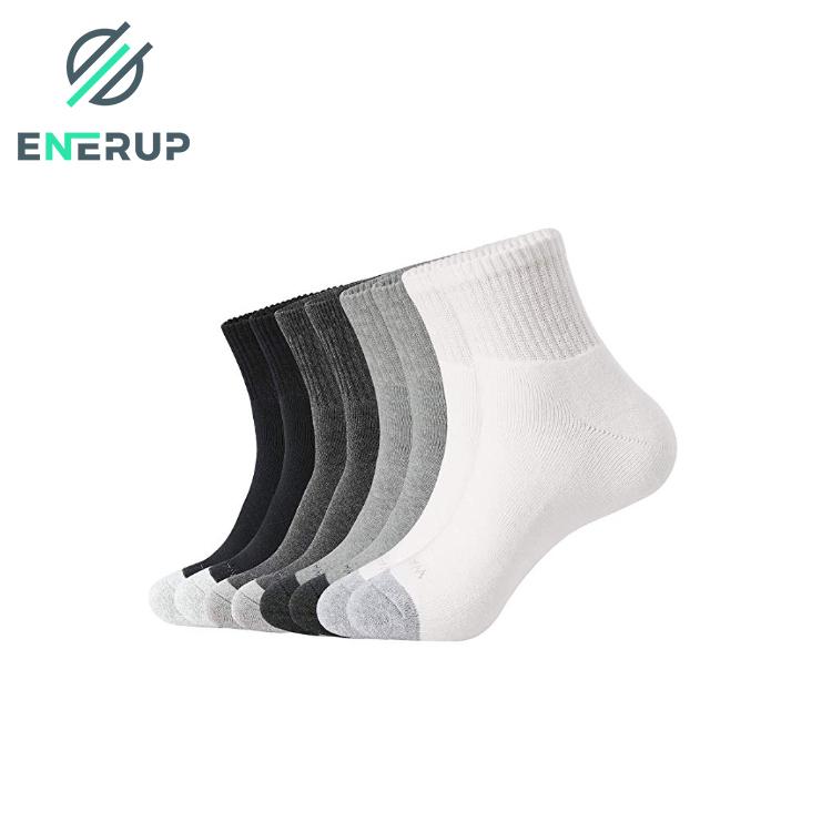 Enerup Solid Bulk White School Plain Orange Nylon Silicone Blank Sublimation Ankle Socks Designer