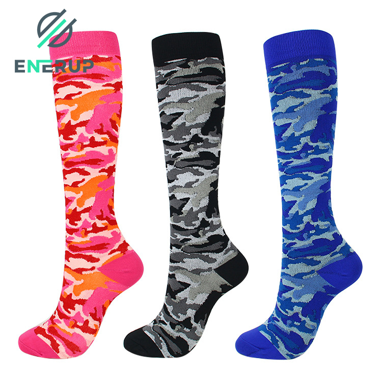 Enerup Private Label Breathable Solid White Polyester Physix Gear Sport 4 Pairs Knee High Graduated Compression Ankgle Socks