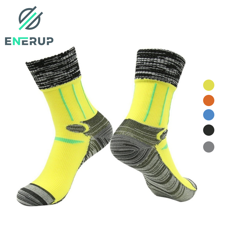 Enerup Wholesale Calcetines Mujer Fashion Custom Logo Women Mens Long Sports Outdoor Hiking Waterproof Breathable Socks