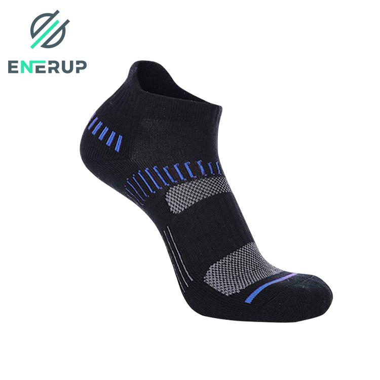 Enerup Bamboo Art Low Cut Best Cotton Breathe Deodorant Sport Ankle Length Sock Cotton Men