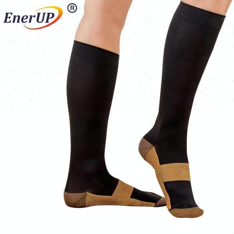 High quality sport copper compression socks breathable sports socks