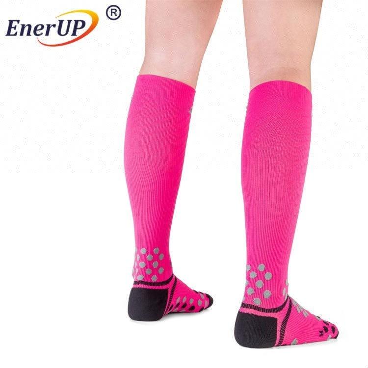 Breathable men knee high copper compression socks for sports