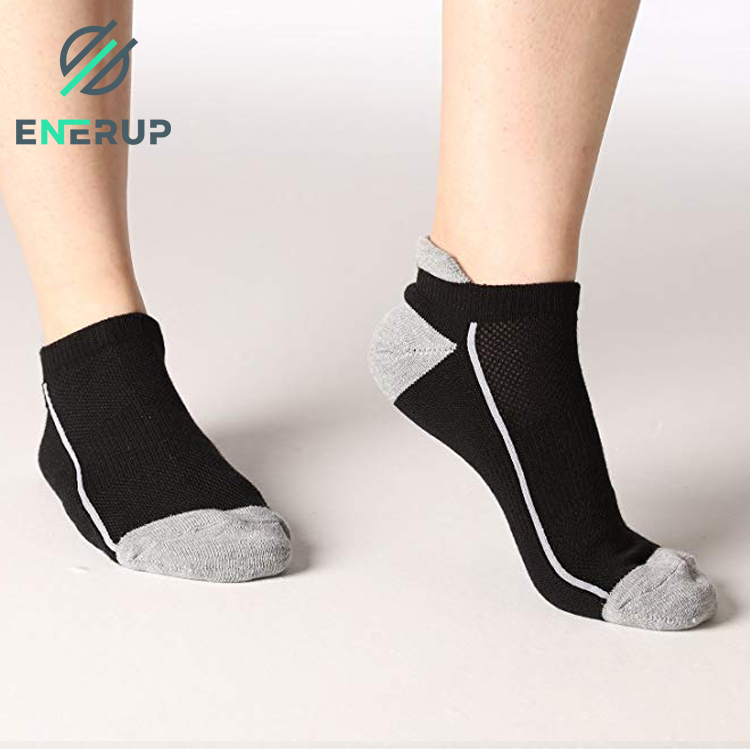 Enerup Sexy Girl Luxury Customised High Quality Men Black Cotton Sports Ankle Custom Women Grip Cotton Socks