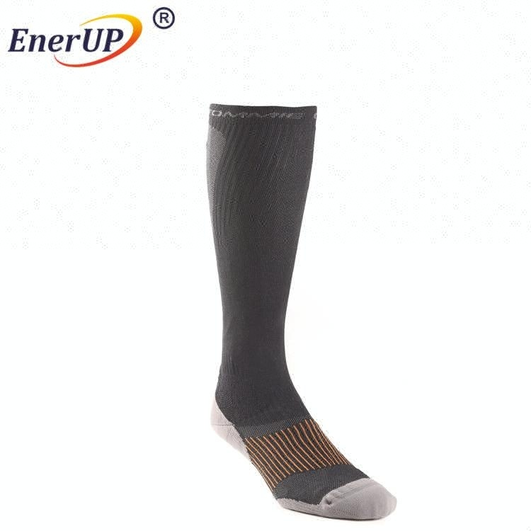 Hot selling cotton sports copper compression athletic knee high socks