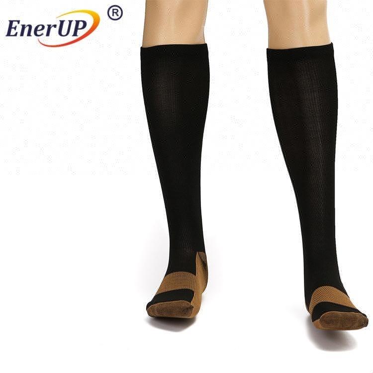 OEM Custom odorless sports anti-bacterial football miracle knitted high socks
