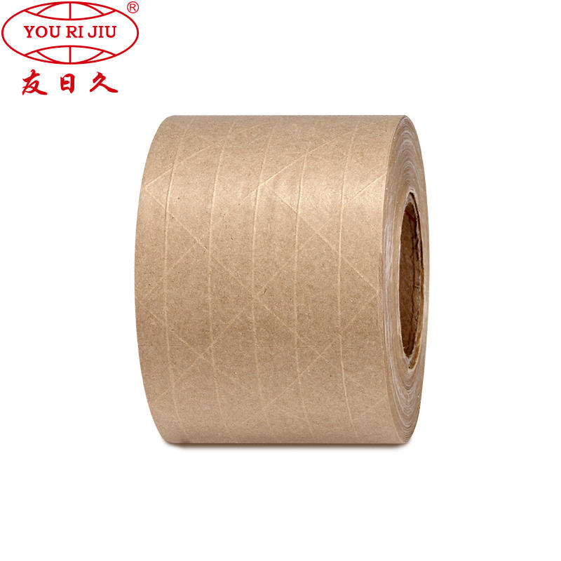 Factory customized cheap good quality eco high adhesive paper packaging kraft tape