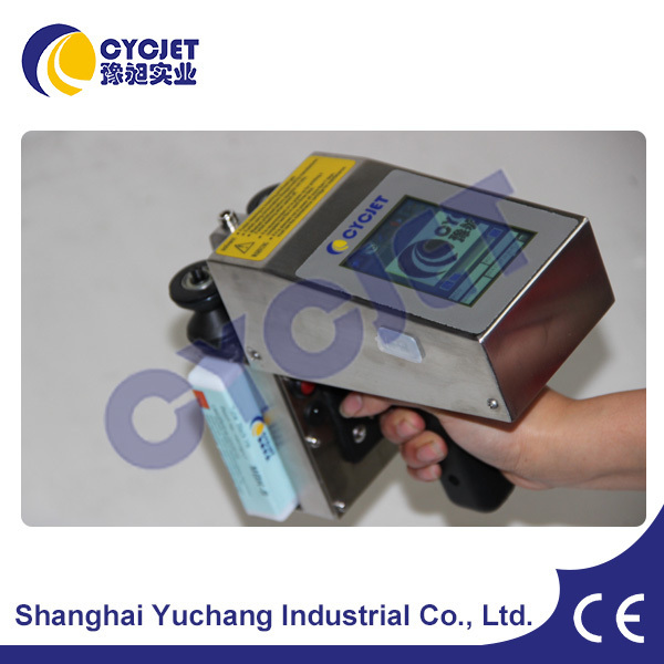 CYCJET Small Stainless Steel Tube Marking Machine/Mobile Handheld Printer/Date Inkjet Coding Printer