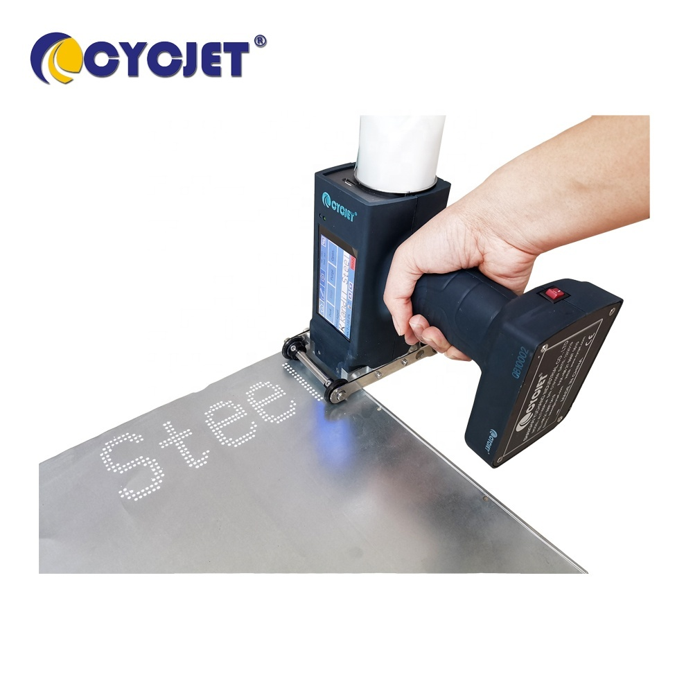 CYCJET ALT160Plus Large Dot Inkjet Printer for Steel with White ink Handjet Printer DOD inkjet printer