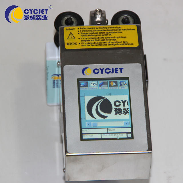 CYCJET ALT360 Solvent Inkjet Printer For Label Printing Plastic Pipe