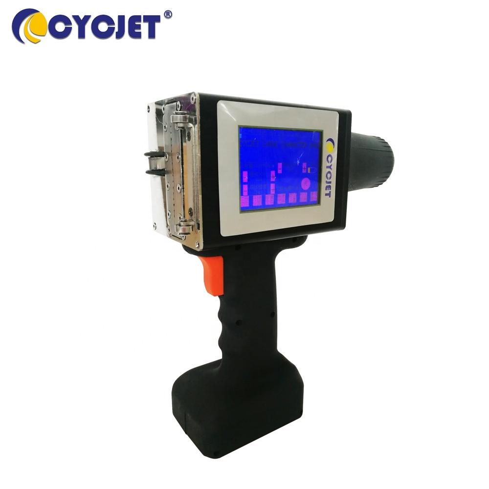 CYCJET Large Character Handheld Inkjet Printer for Metal Sheet Inkjet Printing