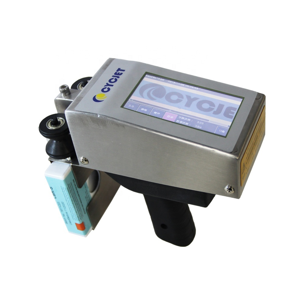 CYCJET ALT360 Handheld Inkjet Batch Coding Machine Small Manual Inkjet Printer for Carton Box Logo Inkjet Printing