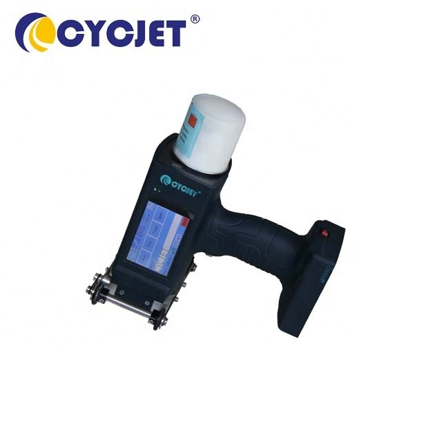 CYCJET Handjet Printer Dot Matrix DOD Inkjet Printing Machine for Steel Pipes and Cement