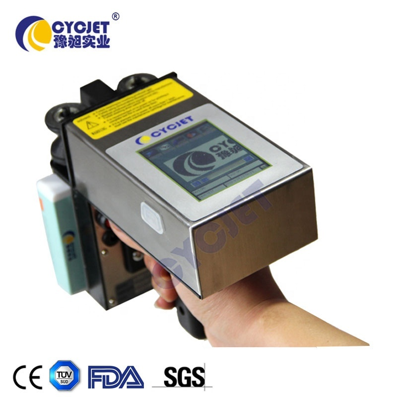 CYCJET Handheld Steel Sheet Inkjet Printer Corrugated Galvanized Sheet Inkjet Printing Machine