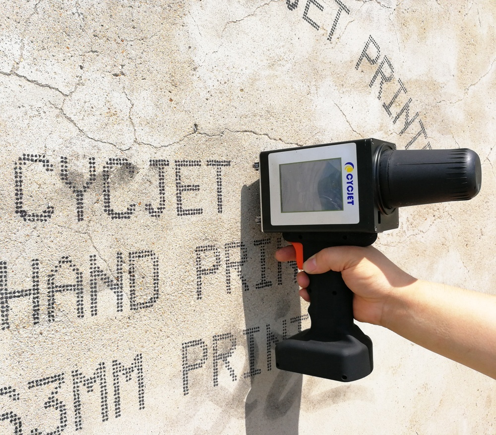 CYCJET ALT160 Plus Large character hand jet printer for Concrete Precast Slab Pabel with blue tooth funtion