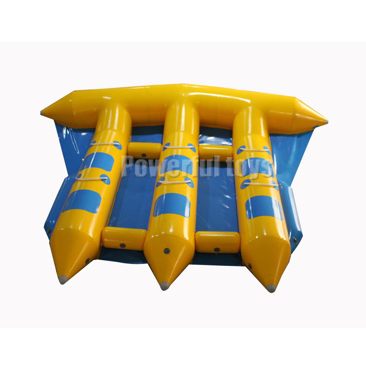 4x3m water park game inflatable banana flying boat for sale