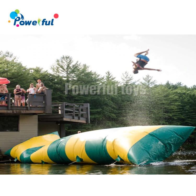 Factory price custom inflatable water jumping pillow bag inflatable air blast water blob for water game