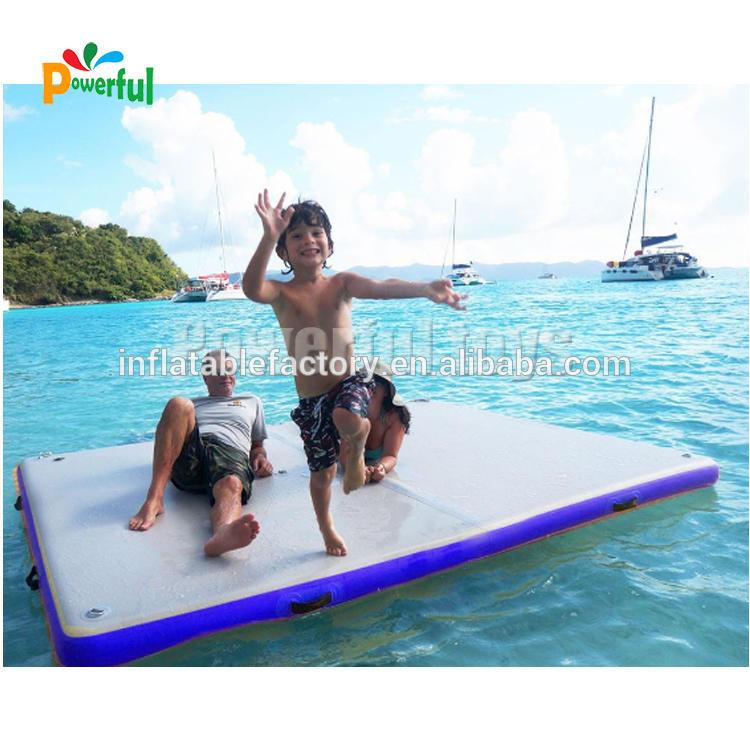 inflatable floating dock rescue bridge path platform walkway