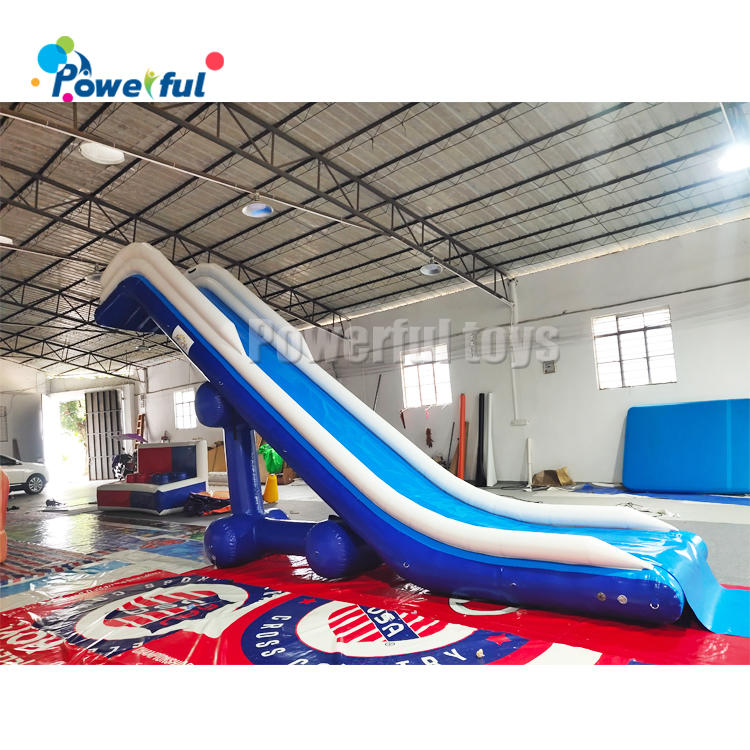 Free fall Inflatable boat dock slide/ super yacht water toys/ inflatable water yacht slide