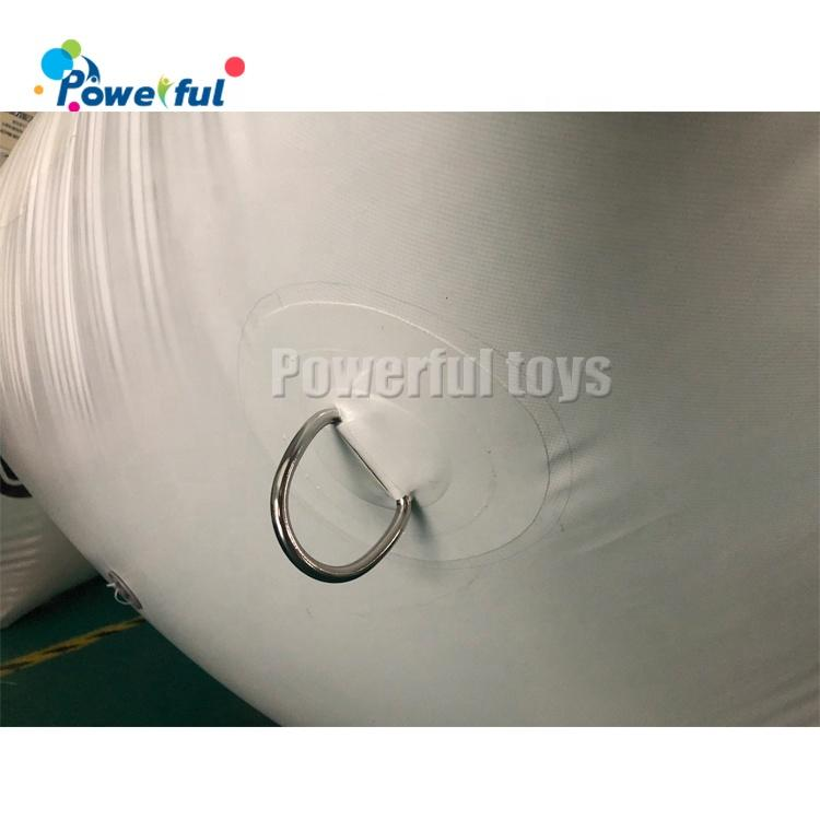 Water Games Inflatable Water Buoy White PVC Floating Pyramid Buoy