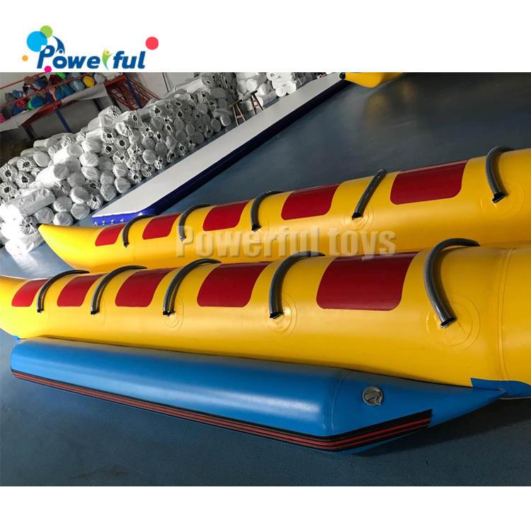 10 passengers inflatable pvc banana boat floating banana tube