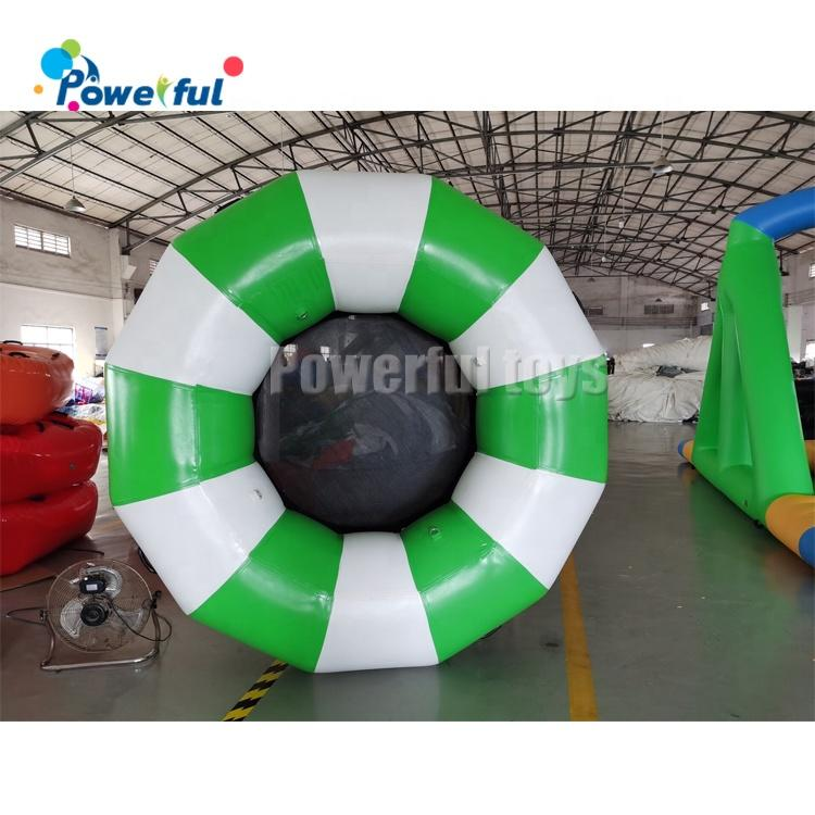 Inflatable trampoline PVC material 4m diameter water trampoline for sale
