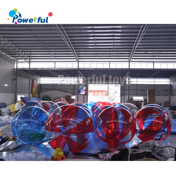 Water park game 2m dia customized size inflatable water walking roller balls