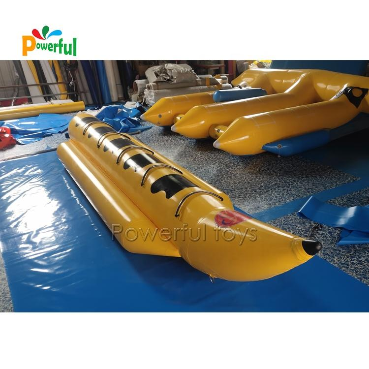 Inflatable 5-passenger banana boat, single tube surf riding water game water toys