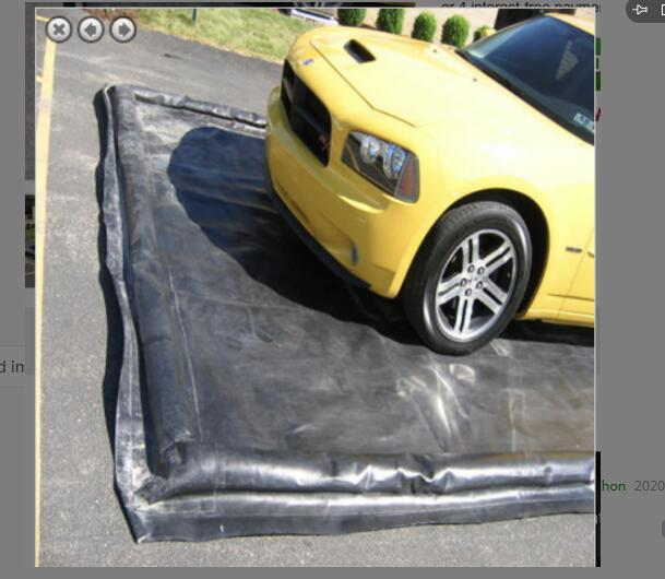 Inflatable Car Wash Mat, Inflatable Car WaterFoam Berm Collector Containment Mat