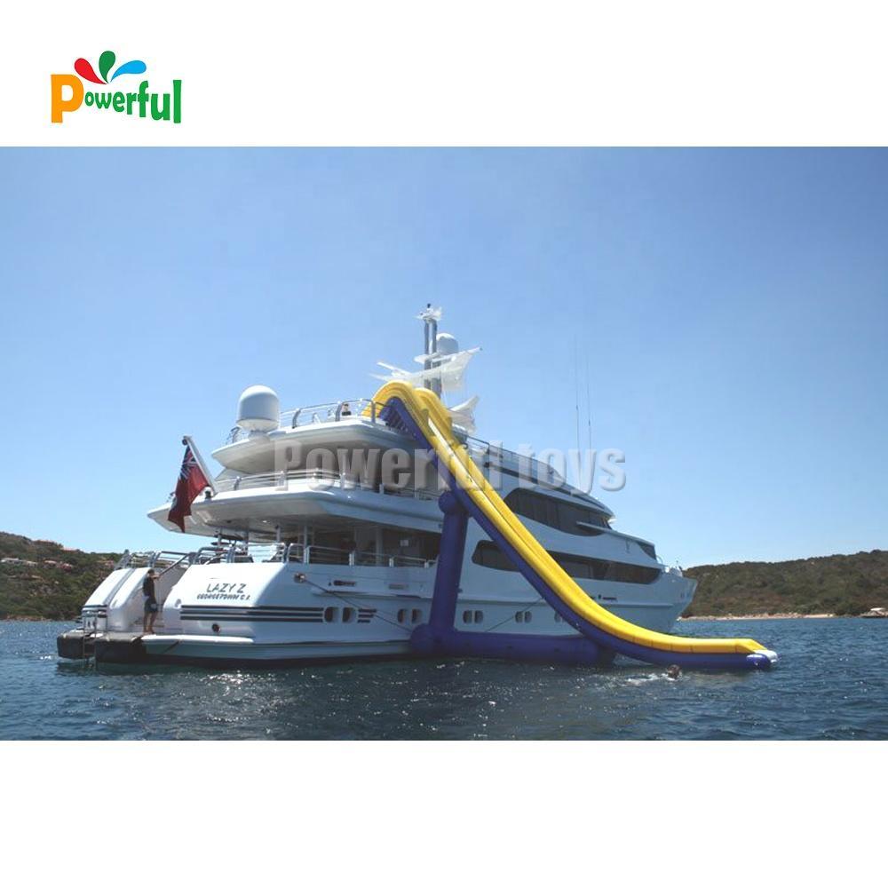 floatinginflatable yacht water slides boat dock
