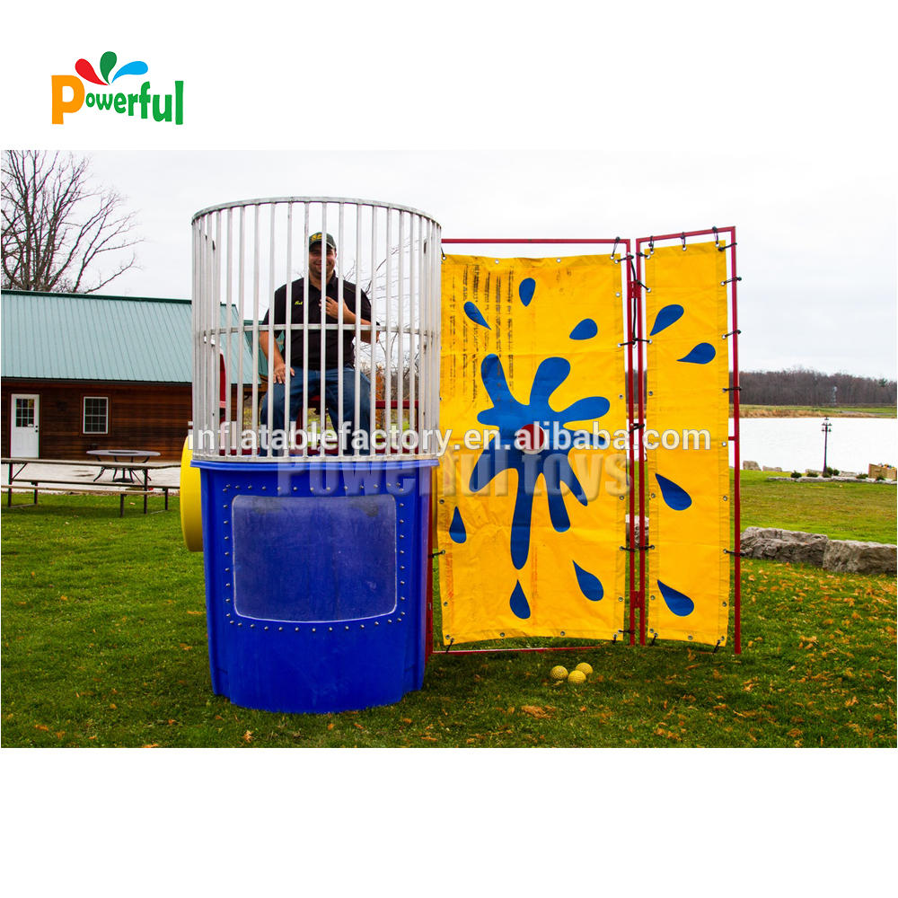 Advertising Sport Inflatable Water Game Dunk Tank For Sale
