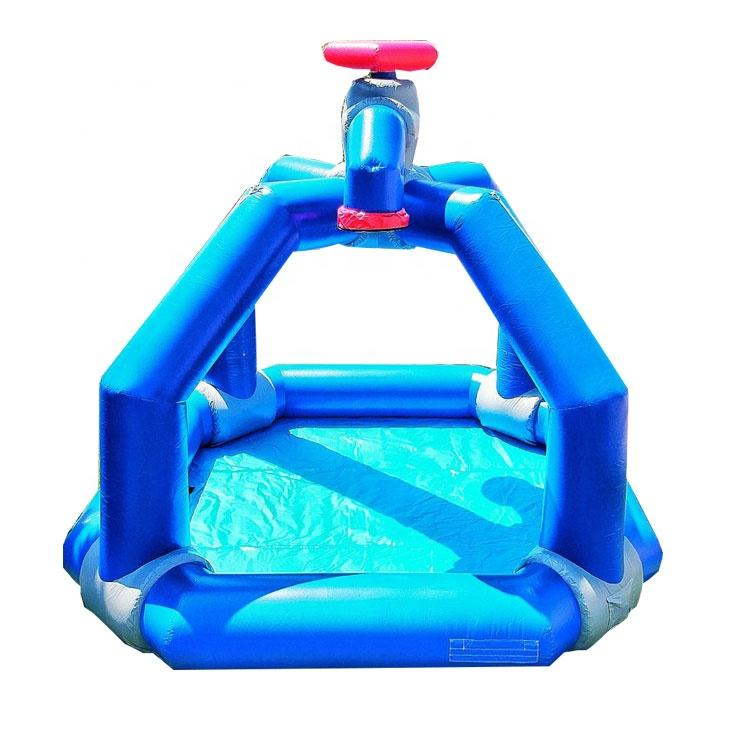 Inflatable outdoor splash play mat inflatable water splasher game