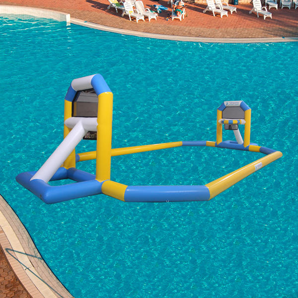 12m giant floating inflatable water basketball court water game