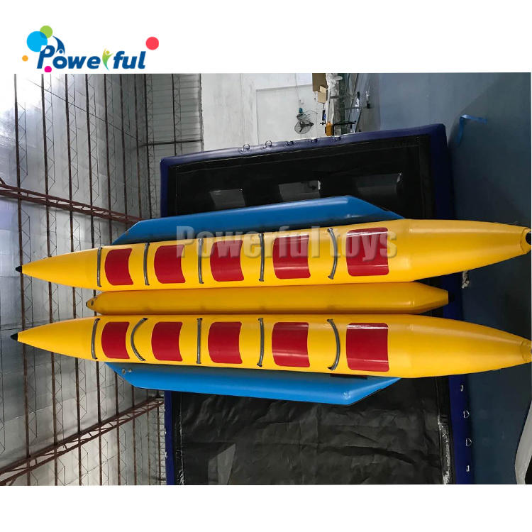 10 People inflatable banana ride boat towable tube ski for water park