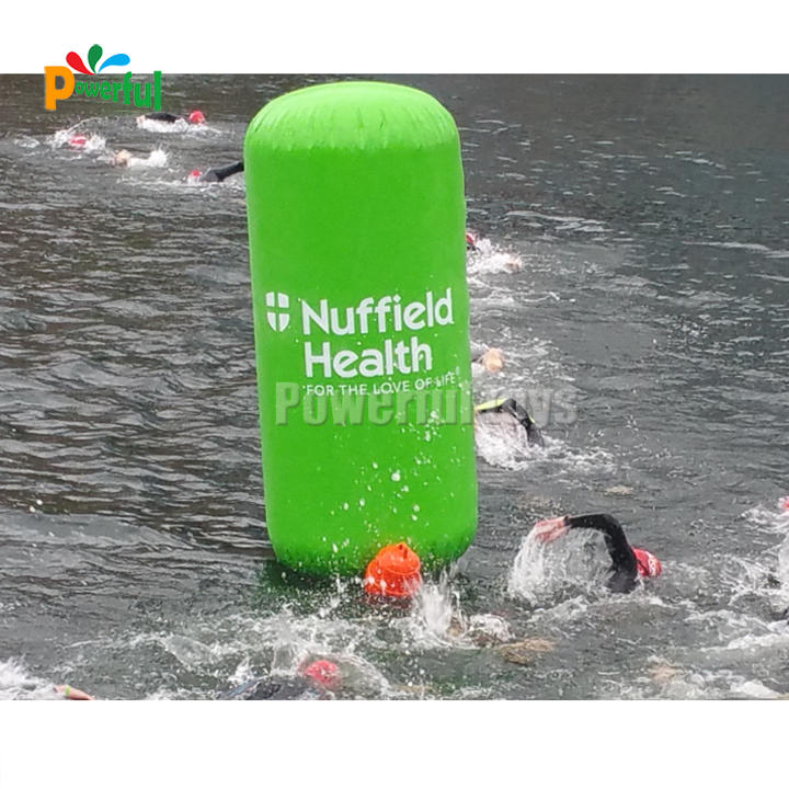 Advertising Triangle Inflatable Water Buoy Inflatable Triangle Buoy Markers Water Floating
