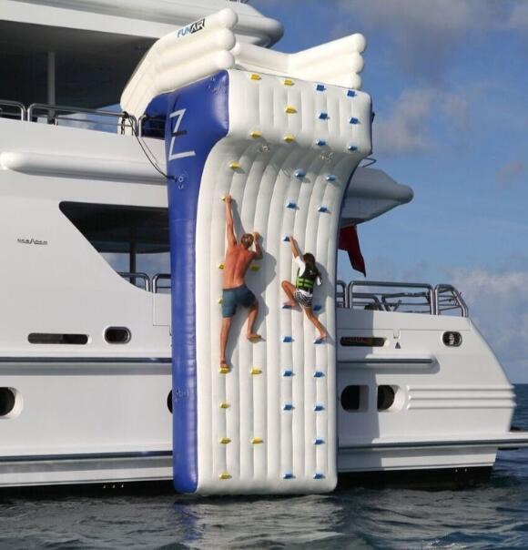 cheap factory inflatable yacht climbing wall,inflatable water rock climbing wall for sea /lake