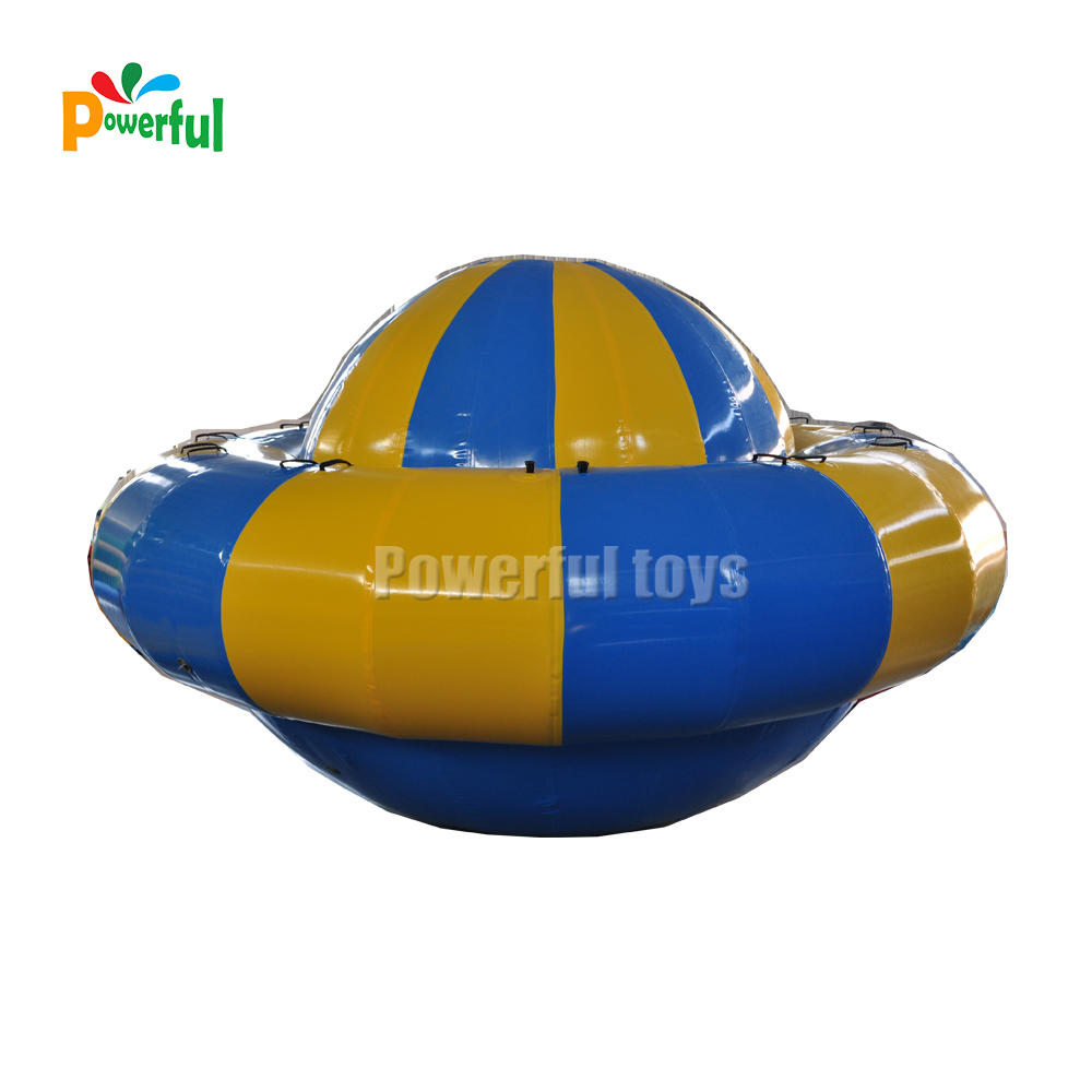 Giant inflatable water saturn, spnning UFO water game for entertainment
