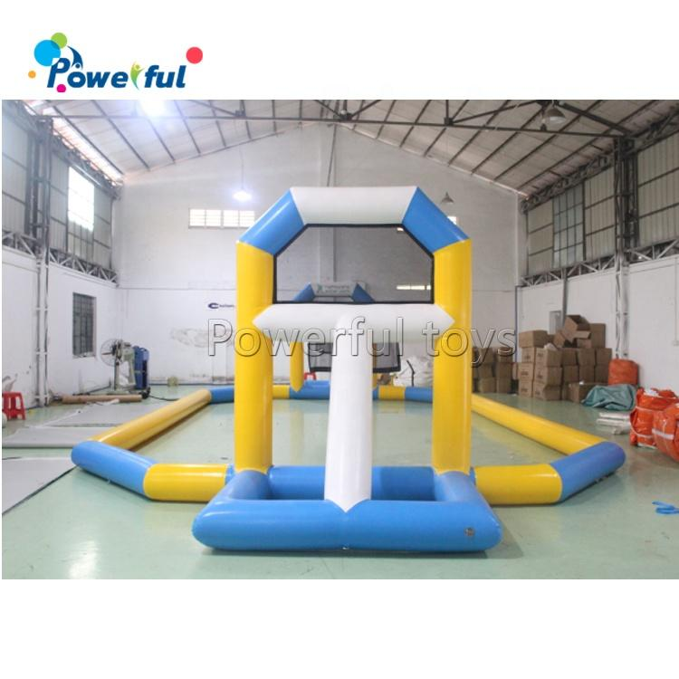 Commercial inflatable water floating basketball game PVC material inflatable basketball court