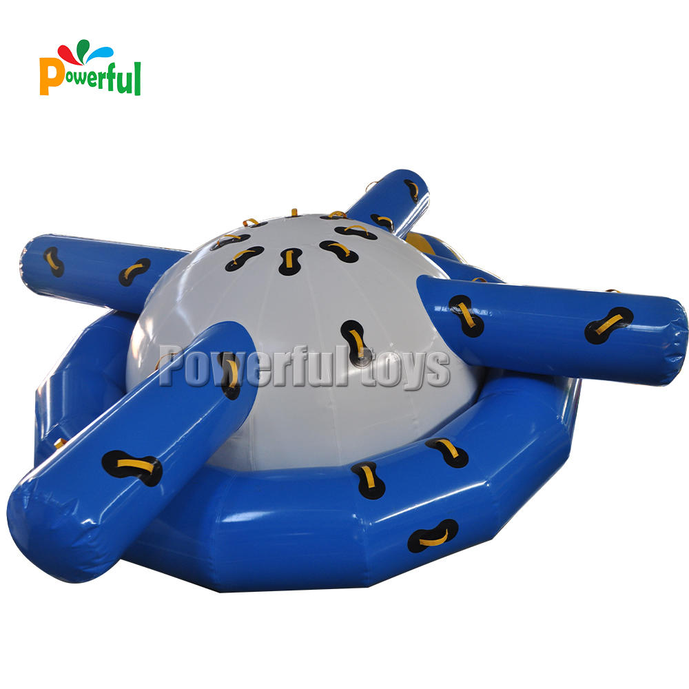 Water park Funny floating peg-top inflatable saturn water games toys Traction UFO