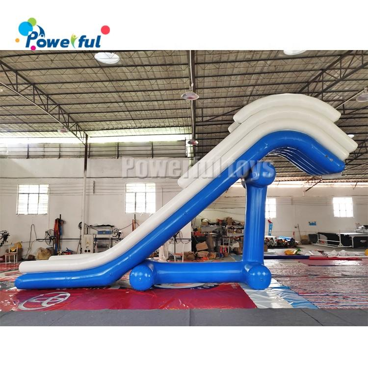 inflatable pontoon yacht slide, Water HouseBoat Slide , inflatable floating yacht dock slide for sea