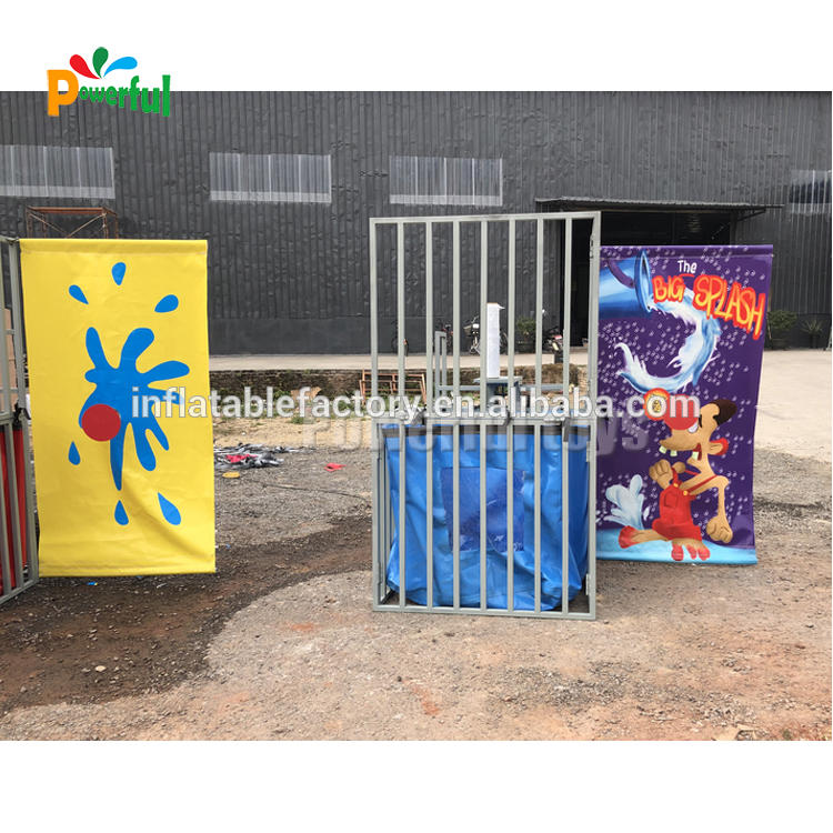Commercial inflatable game machine game inflatable dunk tank for rental