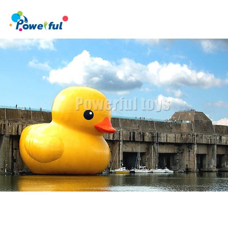 PVC giant inflatable water floating yellow duck